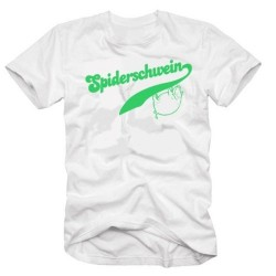 Мъжка тениска с надпис на немски Прасето-паяк