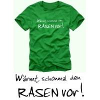 Мъжка тениска с надпис на немски W?RMT SCHONMAL DEN RASEN VOR