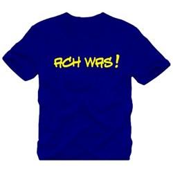 Мъжка тениска с надпис на немскиОх какво !