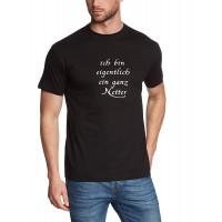 Мъжка тениска с надпис на немскиВсъщност аз съм доста приятна личност