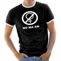 Мъжка тениска с надпис No Ma'am