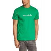 Мъжка тениска с надпис SOCCOHOLIC