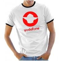 Мъжка тениска с надпис Yodafone